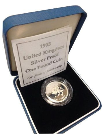 1995 Silver Proof One Pound Coin